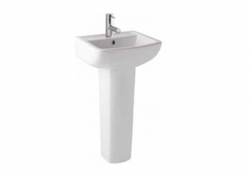 Eastbrook Andelle Basin & Pedestal - 1 Tap Hole - 430mm Wide